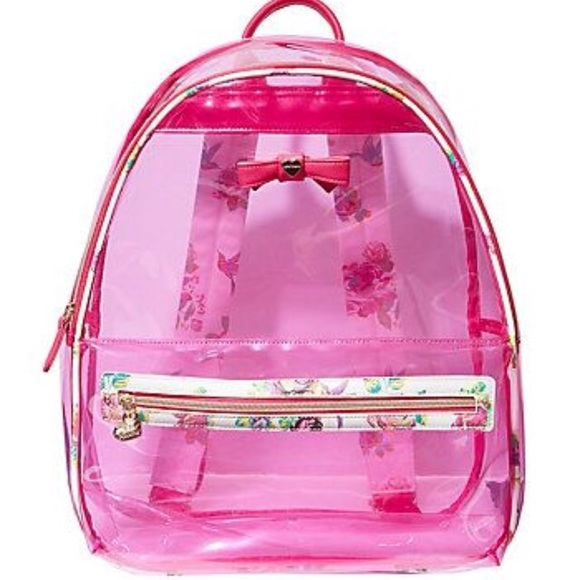 1f3c795645 Betsey Johnson Handbags - New~Betsey Johnson Pink clear backpack   wristlet